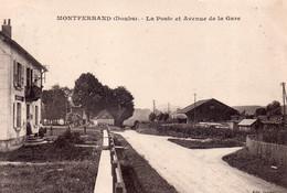 MONTFERRAND  La Poste Et Avenue De La Gare - Otros Municipios