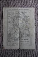 Carte Géographique Des Environs De LAMALOU LES BAINS (34) Par Alfred SABATIER - Cartes Géographiques
