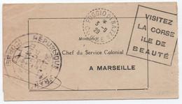Pli En Franchise Mairie De POGGIO DI NAZZA (facteur Receveur) 1929 Flamme Locale VISITEZ LA CORSE SUP! - 1921-1960: Modern Period
