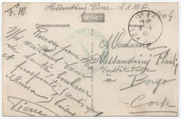 """Carte Postale FM Poste Aux Armées 1940 + """" SECTION AUTOMOBILE DE MUNITIONS / Secteur Postal 704 """" = BONIFACIO CORSE RRR! - Guerre De 1939-45"""