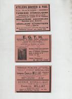 Grenoble Ateliers Boubier Et Paul Turbines Egth Sautet Milliat Travaux Publicx Scierie Hydraulique - Publicités