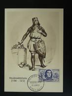 Carte Maximum Card Villehardouin Moyen Age Medieval 1959 Piney 10 Aube Ref 101261 - 1950-59