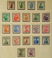 Österreich 1958/59, Trachten Weißer Gummi MNH Postfrisch - 1945-60 Nuovi & Linguelle