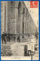 CPA 91 BRUNOY Essonne - Elargissement Du Viaduc P.L.M. - Elévation Des Piles ** Chemin De Fer - Brunoy