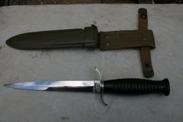 COUTEAU DE LANCER STYLE POIGNARD COMMANDO BERET ROUGE LONGUEUR 30 CM LONGUEUR LAME 18 CM - Knives/Swords