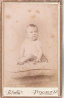 Photo CDV N° 150 - Bébé -  Photographe GLORIA Madrid  Espagne - Rousseurs - Old (before 1900)