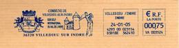 EMA Mairie Indre Villedieu Sur Indre Son Golf International Du Val De L'indre Golfeur Château Blason Lion Ailé Couronne - Freistempel