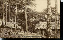 CP ( Un Village Indigène En Pleine Forêt)  Obl. MATADI  - POSTES - 23/08/1928 - 1923-44: Lettres