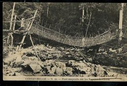 CP ( Pont Suspendu Sur Les Rapides De L'Elila) Obl. BANDUNDU 1913 Pour Heverle 04/06/1913 - 1923-44: Lettres