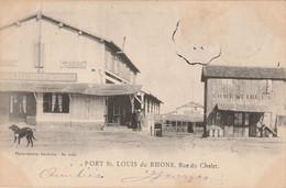 Saint-Louis-du-Rhône : Port / Rue Du Chalet -- 1904 - Saint-Louis-du-Rhône