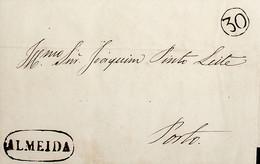 1850 Portugal Pré-Filatelia ALD 4 «ALMEIDA» Sépia - ...-1853 Vorphilatelie