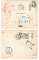 PARIS Lettre Dest Metz Lorraine Poste Restante Ob Allemande 1919 Rebuts Retour Non Réclamé 15c Semeuse Lignée Yv 130 - Storia Postale