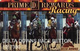 Delta Downs Racetrack Vinton, LA - Prime Rewards Racing Slot Card - Casino Cards