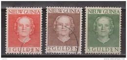 Nederlands Nieuw Guinea Dutch New Guinea 19 - 21 Used ; Koningin, Queen, Reine, Reina Juliana 1950-1952 - Nouvelle Guinée Néerlandaise