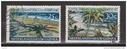 Nederlands Nieuw Guinea Dutch New Guinea 76 - 77 Used ; Pago Pago 1962 - Nouvelle Guinée Néerlandaise