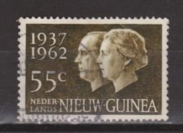 Nederlands Nieuw Guinea Dutch New Guinea Nr 75 Used ; Zilveren Huwelijksfeest Juliana Bernhard 1962 - Nouvelle Guinée Néerlandaise