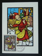 Carte Maximum Card Vitrail Stained Glass Art Medieval Conches En Ouche 27 Eure Ref 101286 - Verres & Vitraux
