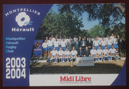 Rugby : Montpellier Herault Rugby Club  , Saison 2003-2004 - Rugby