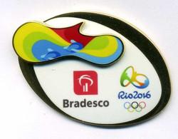 Pin's Olympic Game Rio 2016 Bradesco Aviron - Juegos