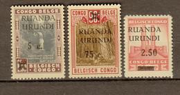 Ruanda - Urundi Ocb Nr :   118 - 120 ** MNH   (zie Scan) - 1924-44: Ungebraucht