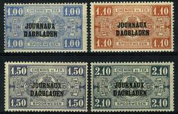 """België JO37/40 * - Postpakketzegels Met Opdruk """"Journaux - Dagbladen"""" - Type II - R Staat Boven B - Dagbladzegels"""