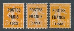 EC-507: FRANCE: Lot Avec Préo N°30-33-36 NSG - 1893-1947