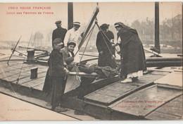 CPA  Croix Rouge Batellerie  Transport Des Blessés 1914-18 En Péniche Ambulance Union Des Femmes De France - Houseboats
