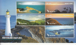 2013 New Zealand Lighthouses Coastal Views Miniature Sheet Of 5 MNH @ Below Face Value - Nuovi