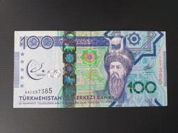 TURKMENISTAN 100 MANAT 2017 COMMEMORATIF.VF+ - Turkmenistan