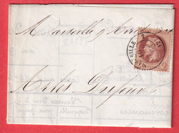 N°26 SEUL SUR LETTRE MARSEILLE 2 12 2 POUR MARSEILLE IMPRIME LOCAL COURS DU COTON A MARSEILLE - 1849-1876: Classic Period