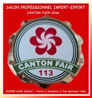 """SUPER PIN'S BADGE SALON IMPORT-EXPORT CHINE :""""CANTON FAIR 113"""" Rencontre Internationale Tous Secteurs, 3D ZAMAC Or 2,5cm - Marques"""