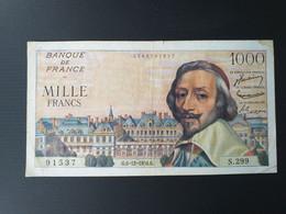 FRANCE 1000 FRANCS 1956 RICHELIEU - 1 000 F 1953-1957 ''Richelieu''