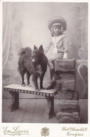 TONGRES  Edgar HARDY Et Son Chien Photo Cdv Format Cabinet En 1905 Par LEERS TONGEREN - Antiche (ante 1900)