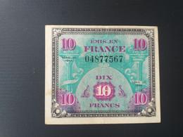 FRANCE 10 FRANCS 1944 DRAPEAU - 1944 Flag/France