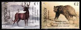 "KOSOVO / KOSOVA REPUBLIC  -EUROPA 2021 -ENDANGERED NATIONAL WILDLIFE""-  SET Of  2 STAMPS From SHEET Of 10 - 2020"