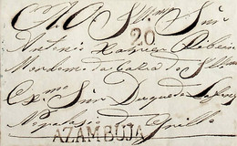 1839 Portugal Pré-Filatelia AZB 1 «AZAMBUJA» Sépia - ...-1853 Vorphilatelie