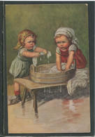 19293 Deux Jeunes Filles Faisant La Lessive - Fialkowska, Wally