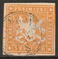 Wurttemberg 1857 Sc 15  Used Bronn CDS - Wurtemberg