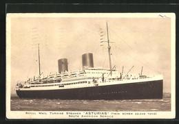 AK Passagierschiff Asturias In Voller Fahrt - Steamers