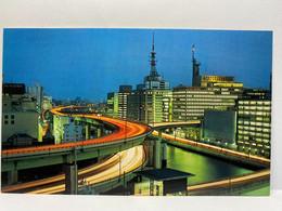 View Of Hanshin Highway At Twilight, Osaka, Japan Postcard - Osaka