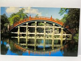Soribashi Bridge Of Sumiyoshi Shrine, Osaka, Japan Postcard - Osaka