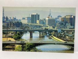 VIEW NEAR NAKANOSHIMA FROM TEMMABASHI, Osaka, Japan Postcard - Osaka