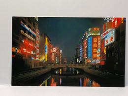 Night View Of Dotonbori, Osaka, Japan Postcard - Osaka