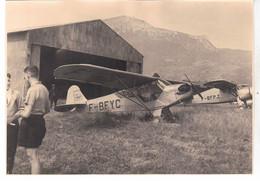 PHOTO  AVION  AVIATION  PIPER CUB A GRENOBLE - Aviation