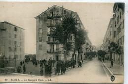 -2B - CORSE  - CORTE - Le Boulevard Paoli - Sortie Des Ecoles - Corte