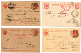 SF: 5x Postkarte/Brief, Teils Zensur, 1916 Etc - Unclassified