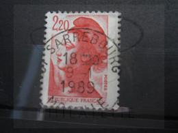 "VEND BEAU TIMBRE DE FRANCE N° 2376 , OBLITERATION "" SARREBOURG "" !!! - 1982-90 Libertà Di Gandon"