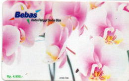INDONESIA - PREPAID - BEBAS - THEMATIC FLOWER - ORCHID - Indonesia