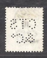 0gb  0195 -  GB  :  Yv  62   (o) Planche 22 , Perfin   CTS / & C° - Perfins