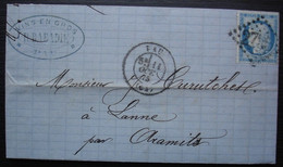 Pau 1875 R. Dabadie Vins En Gros,  Lettre Pour Lanne Par Aramits - 1849-1876: Période Classique